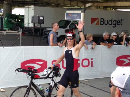 Coming in to T2, still enough energy to smile