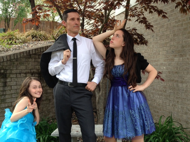 Getting Ready for Father/Daughter Dance